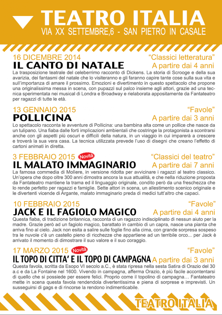 Scuole 14-15 - Programma Italia