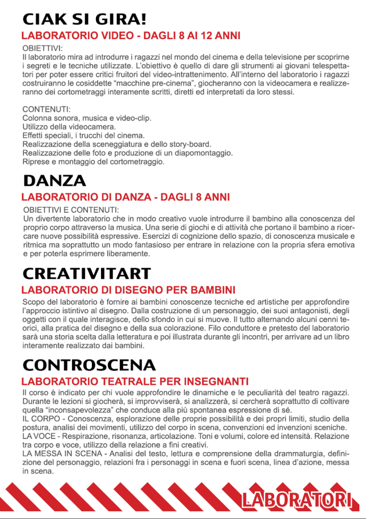 Scuole 14-15 - Programma Laboratori 2