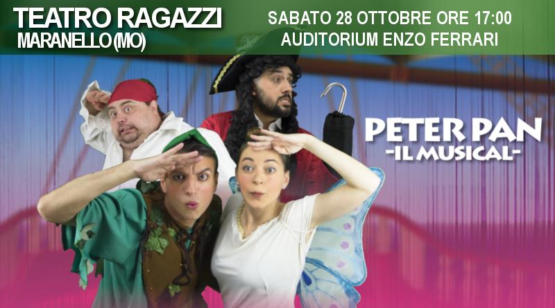 """Peter Pan """"Il musical"""" – Rassegna Auditorium Enzo Ferrari"""