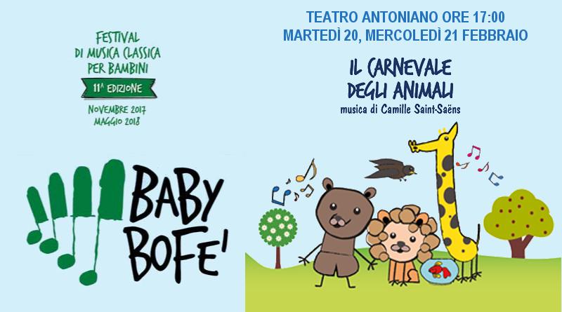 Il carnevale degli animali – Rassegna Baby BoFe'